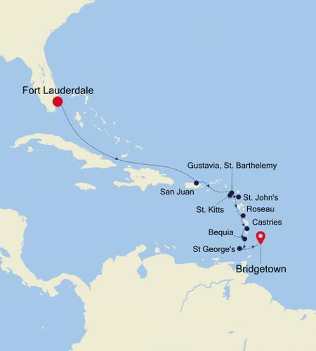 Fort Lauderdale, Florida a Bridgetown