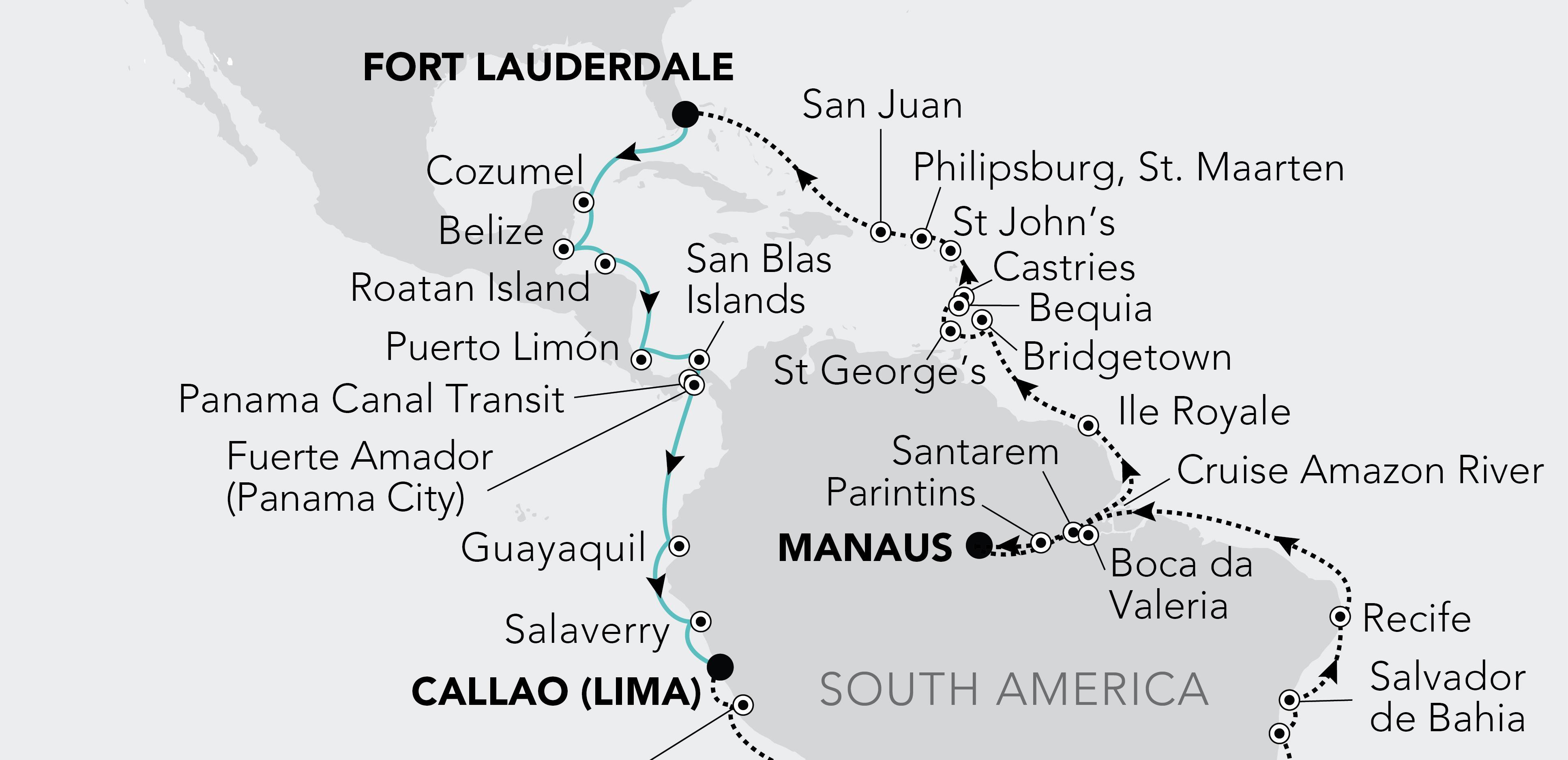 Fort Lauderdale, Florida a Lima (Callao)