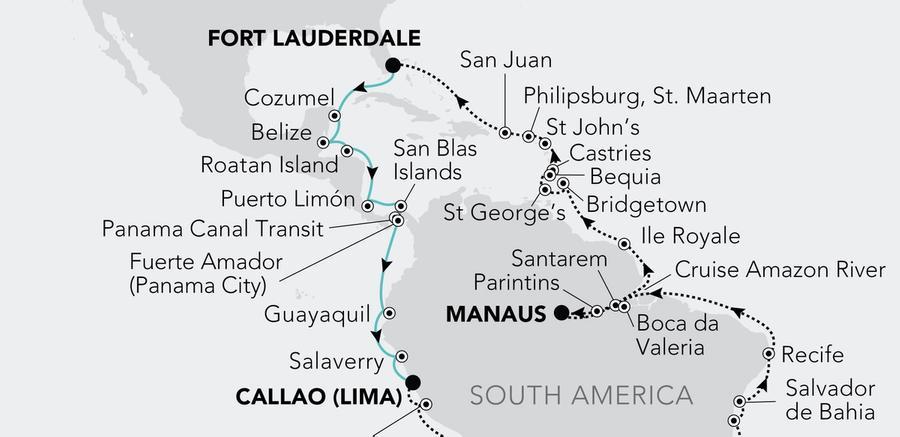 Fort Lauderdale, Florida nach Lima (Callao)