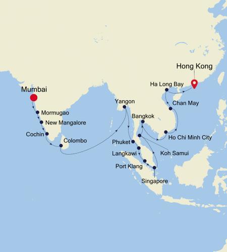 Mumbai nach Hong Kong