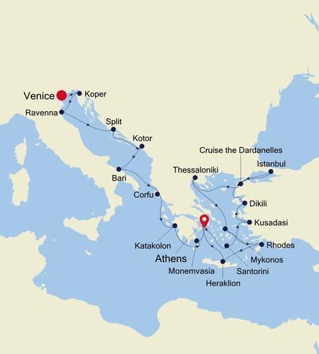 Venice a Athens (Piraeus)