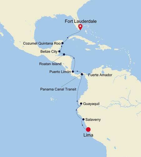 Lima (Callao) to Fort Lauderdale, Florida