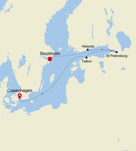 Stockholm à Copenhagen