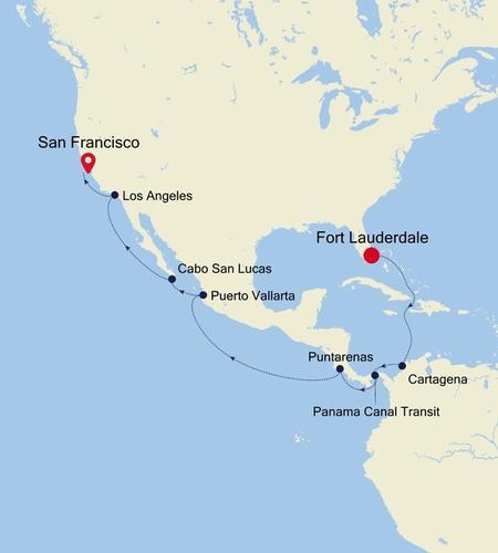 Fort Lauderdale, Florida a San Francisco (California)