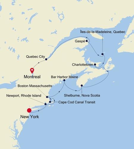 New York, NY to Montreal