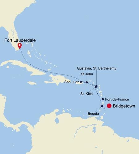 Bridgetown nach Fort Lauderdale, Florida