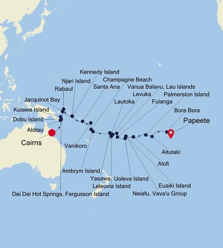 Cairns to Papeete (Tahiti)