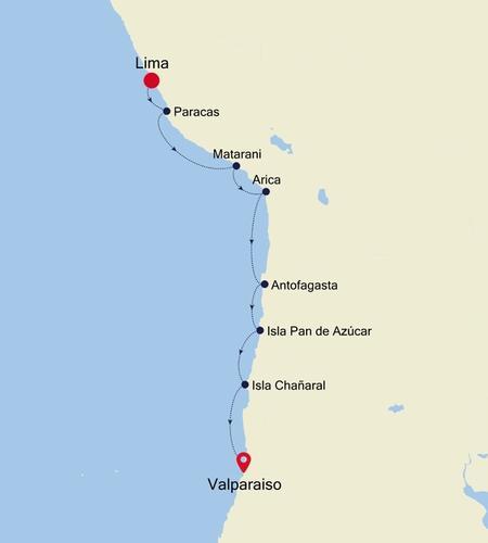 Lima (Callao) nach Valparaiso