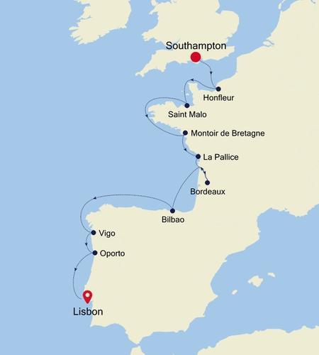 Southampton nach Lisbon
