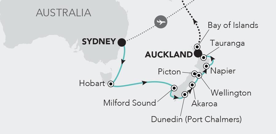 Sydney à Auckland