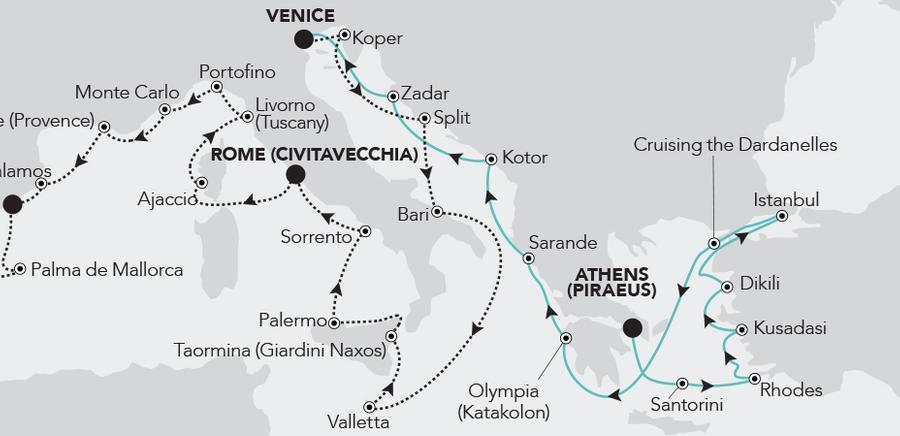 Athens (Piraeus) à Venice