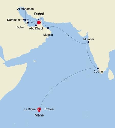 Dubai nach Mahe