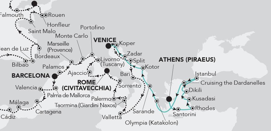 Athens (Piraeus) to Venice