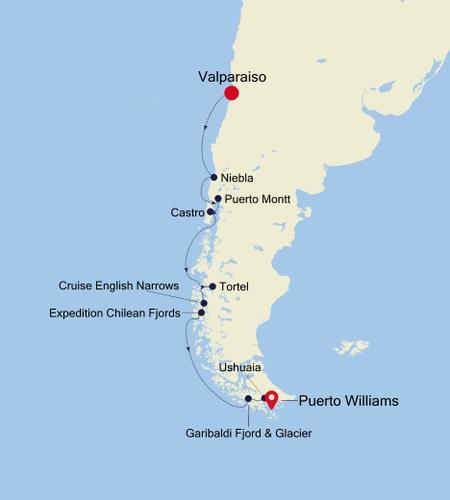 Valparaiso to Puerto Williams