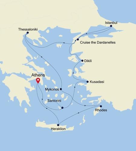 Athens (Piraeus) to Athens (Piraeus)