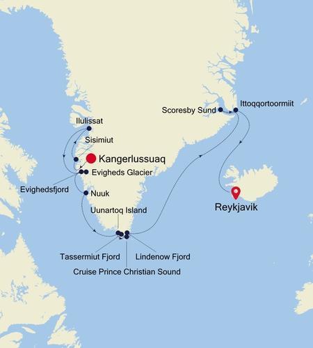 Kangerlussuaq a Reykjavik