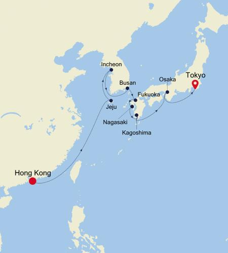 Hong Kong nach Tokyo