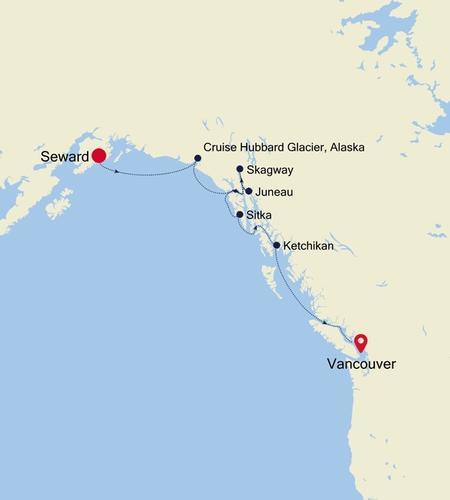 Seward (Anchorage, Alaska) to Vancouver
