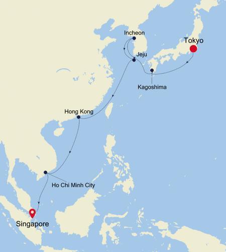 Tokyo to Singapore