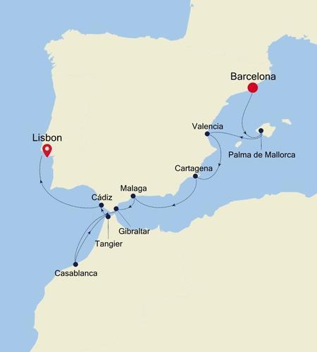 Barcelona a Lisbon