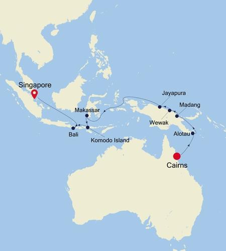 Cairns to Singapore