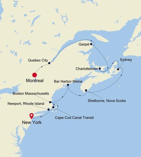 Montreal a New York, NY