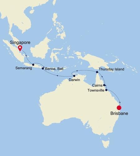 Brisbane a Singapore