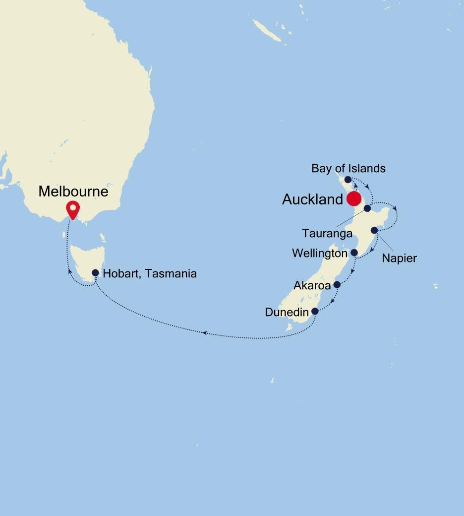 Auckland to Melbourne