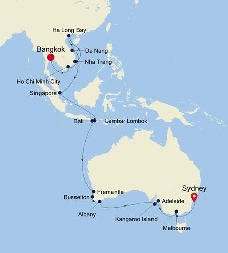 Bangkok (Klong Toey) à Sydney