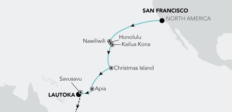 San Francisco (California) nach Lautoka