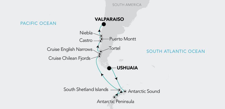 Ushuaia a Valparaiso