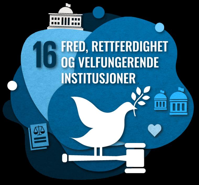 Bærekraftsmål nummer 2: Fred, rettferdighet og velfungerende institusjoner