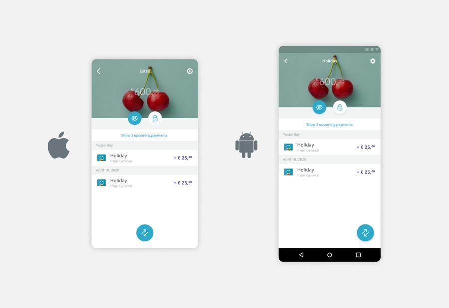 De app op iOS en Android