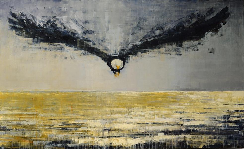 Bald Eagle Contemplating the Sea