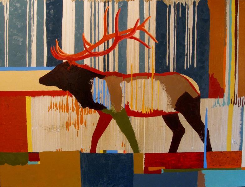 Elk with Blue