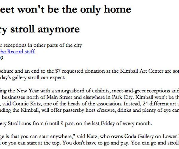 """Main Street Gallery Stroll"""