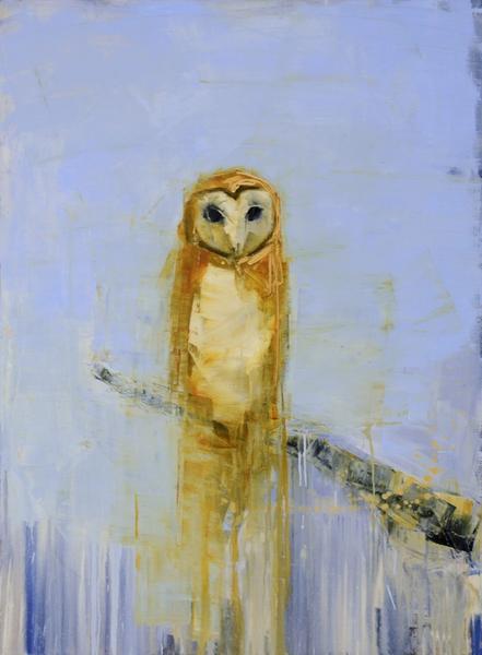 Barn Owl (Pale Blue Sky)