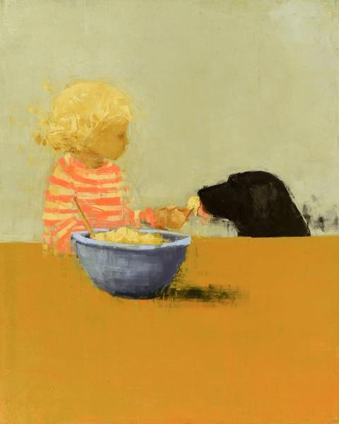Black Dog With Baker