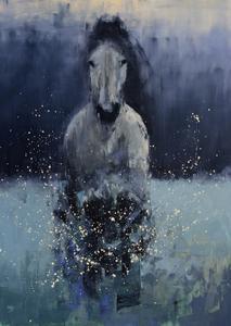 Running Horse (Deep Snow)