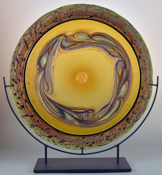 Jupiter Mandala – Amber with Gold Leaf