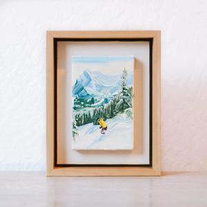 Skier Miniature Three