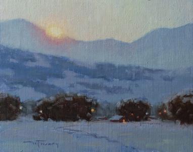 Fading Winter Evening Light