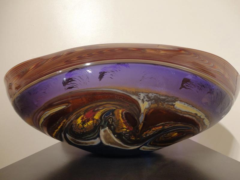 Incalmo Jupiter Vessel in Amethyst and Turquoise