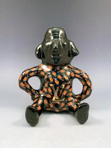 LV Mayan Figure with Flowers