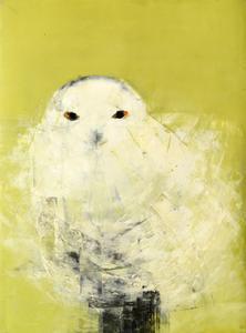 Snowy Owl (White on Green)