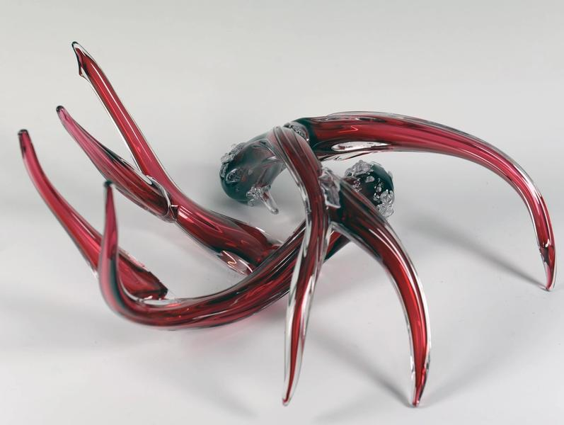 Glass Antlers, Cranberry