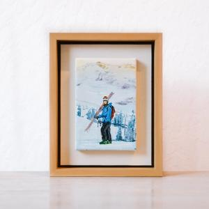 Skier Miniature One