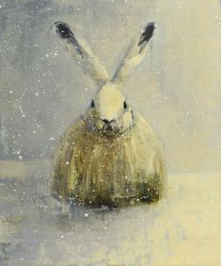 White Rabbit with Snow