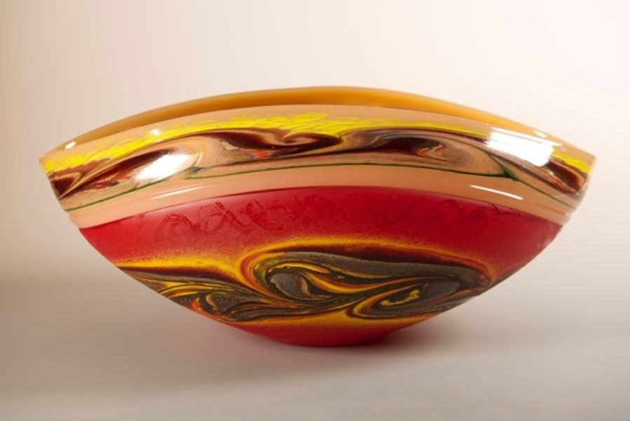 Jupiter Vessel Red with Yellow