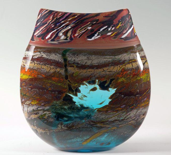 Canyon Walls Vase Turquoise